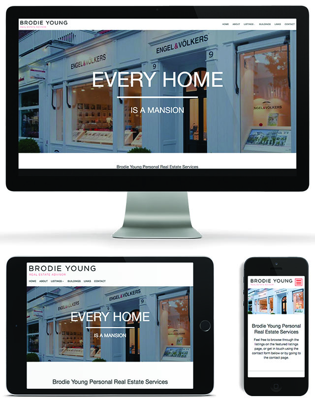 Vancouver Realtor Brodie Young on Main Street Template Website by Brixwork