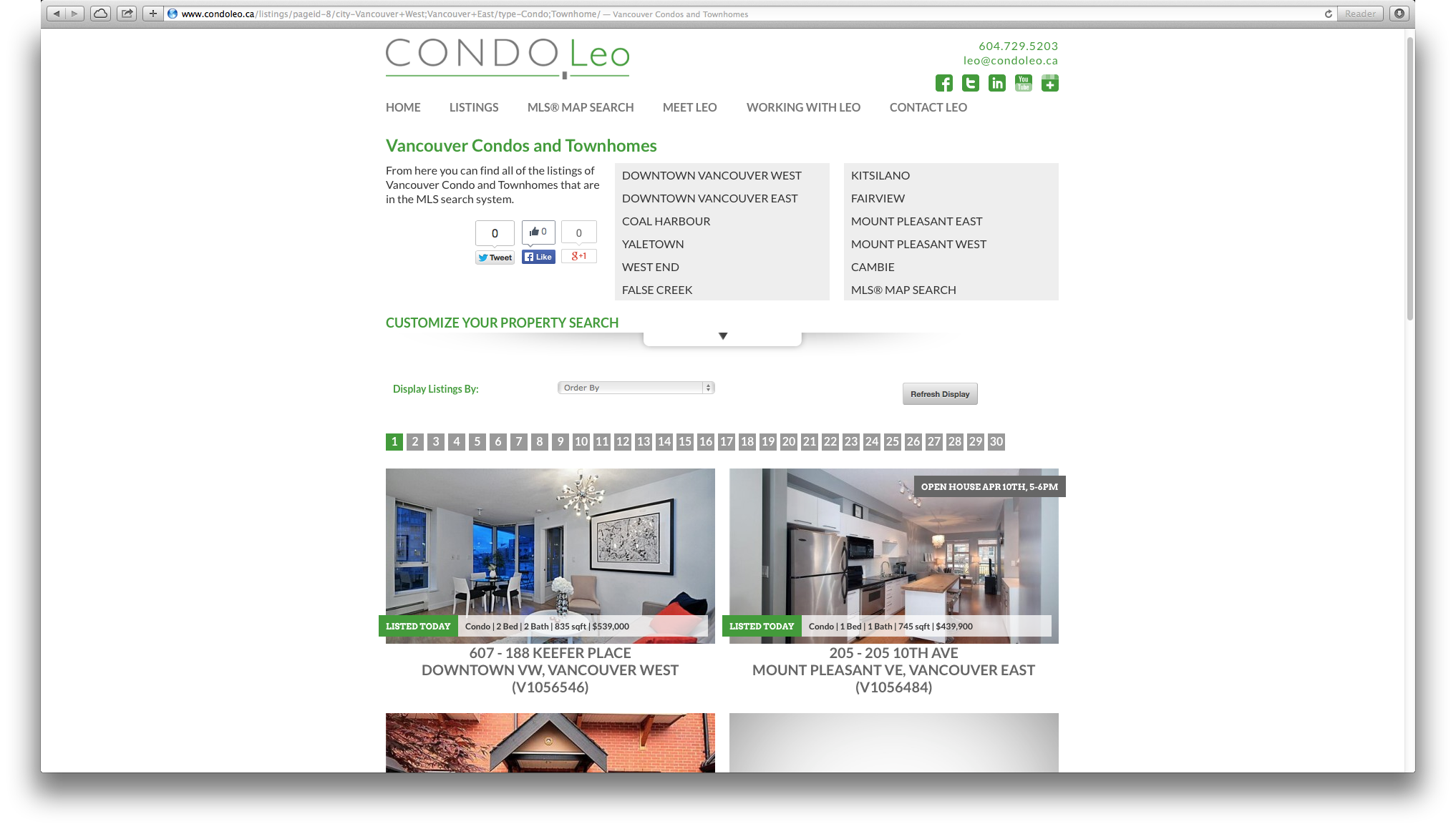 Downtown Vancouver Condo Listings With Upcoming Open Houses