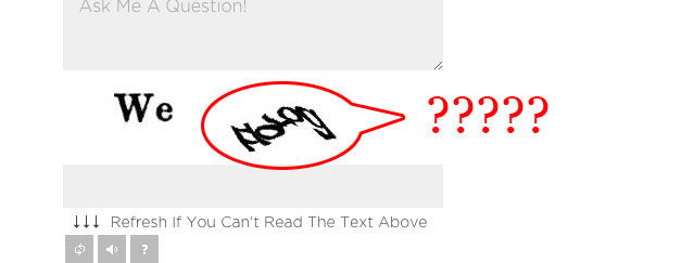 old recaptcha that was hard to read