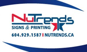 Nutrends advertising logo and information