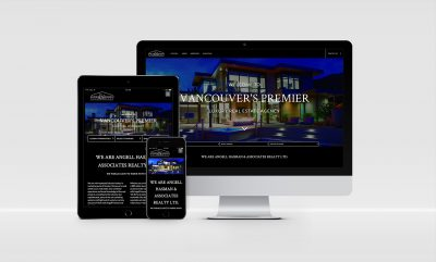 Angell Hasman website design display
