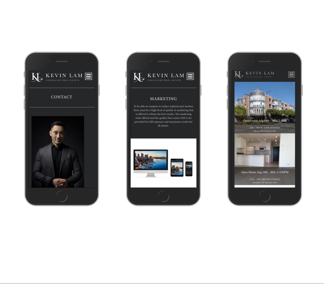 Mobile Responsive Real Estate Website Design for Kevin Lam