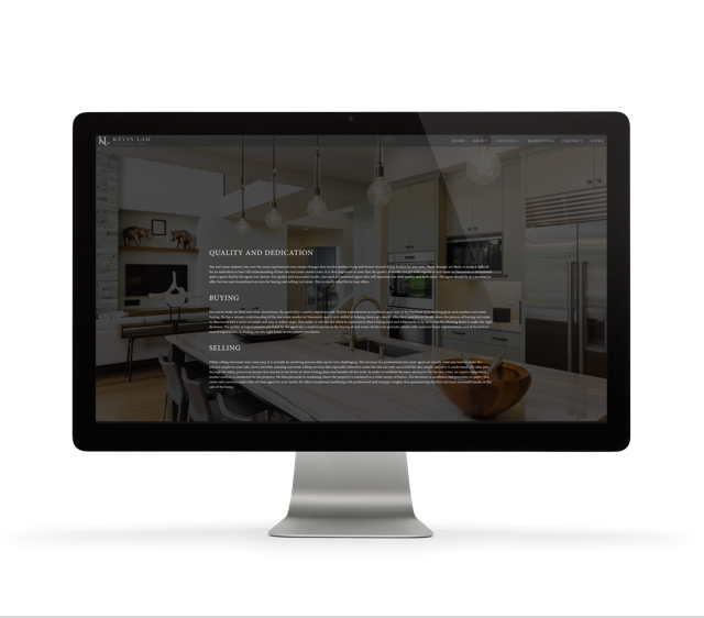 Vancouver Realtor® Kevin Lam Custom Website Design
