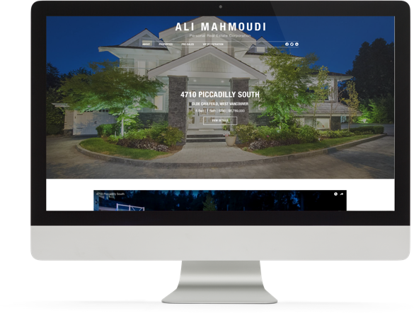 Realtor Website Design for Ali Mahmoudi desktop view