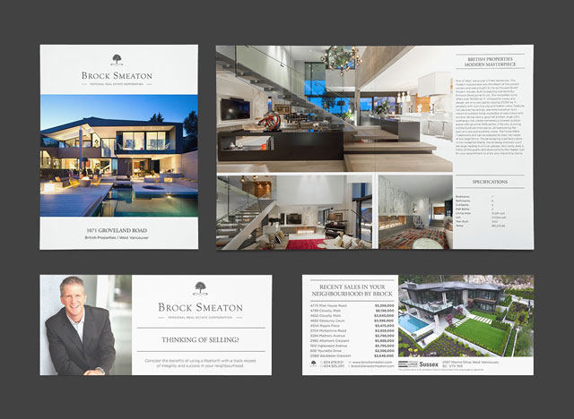 Realtor Print and Digital Media Branding design for Brock Smeaton, West Vancouver