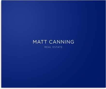 Real estate branding stationary design for Matt Canning, Fraser Valley