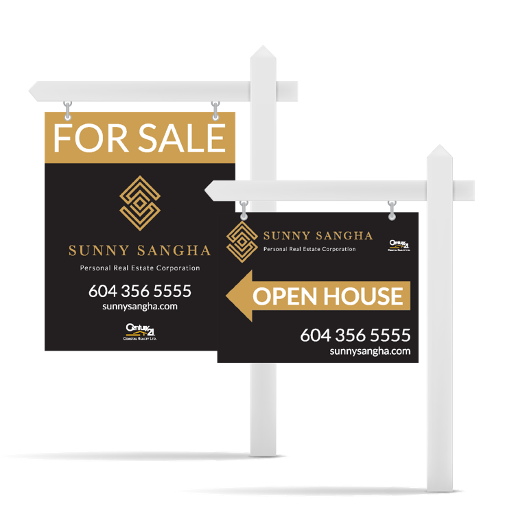 Sunny Sangha Realtor Branding sign design