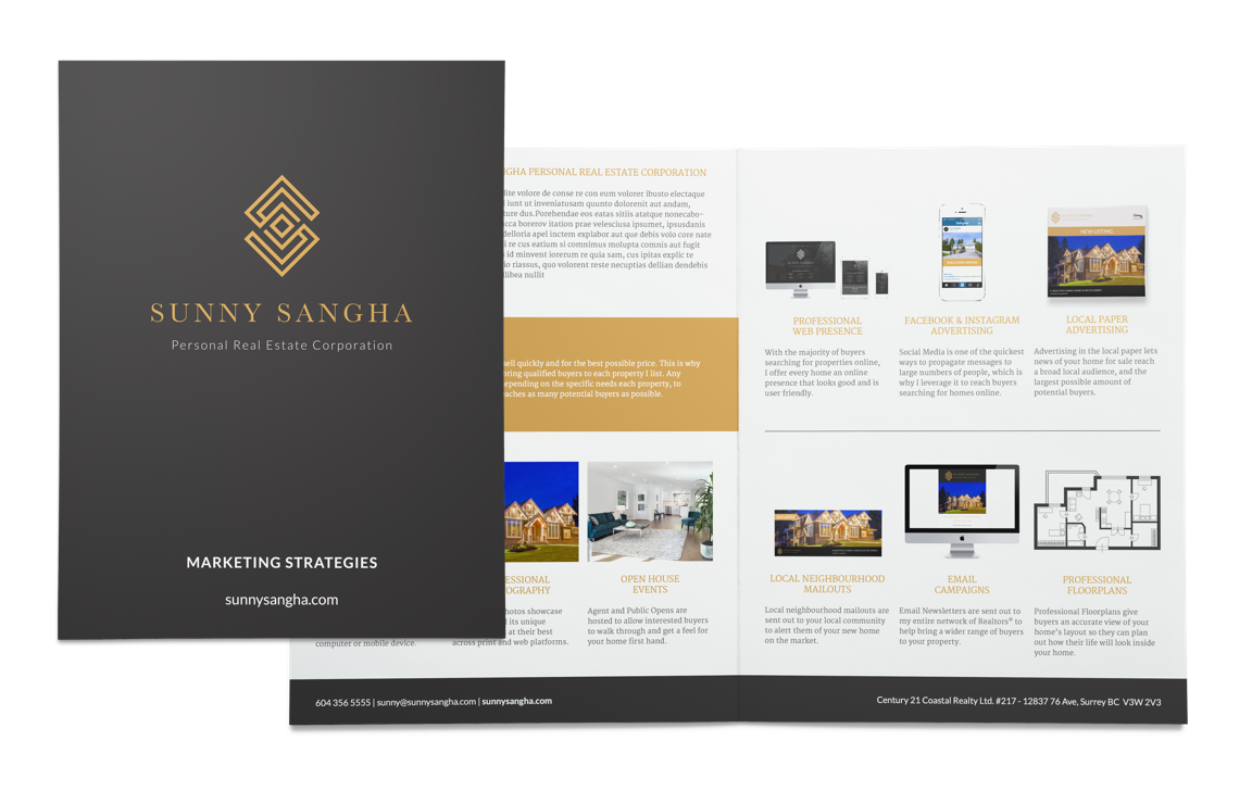 Sunny Sangha Realtor Branding stationary design