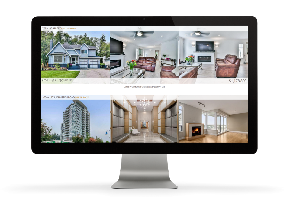 Sunny Sangha Realtor Branding website design desktop display