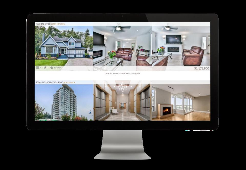 Sunny Sangha Realtor Branding website design desktop display