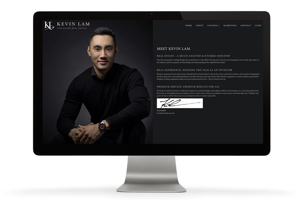 Brixwork marketing Kevin Lam about page custom curated content
