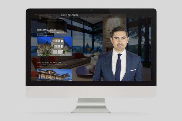 Nick Neacsu real estate agent website design desktop display