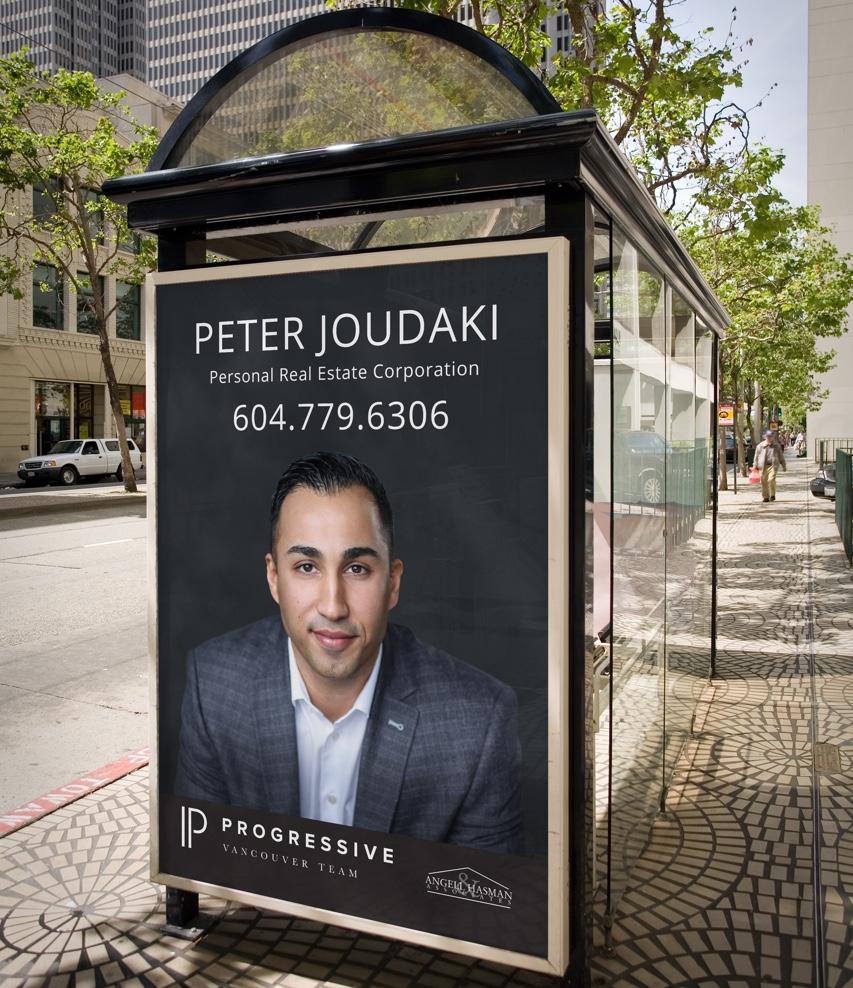 Progressive Vancouver Real Estate Agents Web design and marketing branding - bus ad display