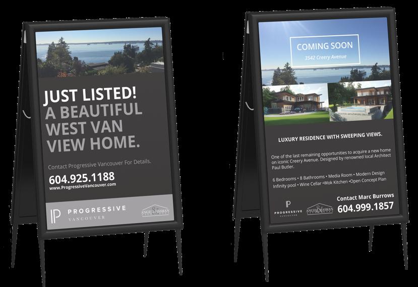 Progressive Vancouver Real Estate Agents Web design and marketing branding - sign design