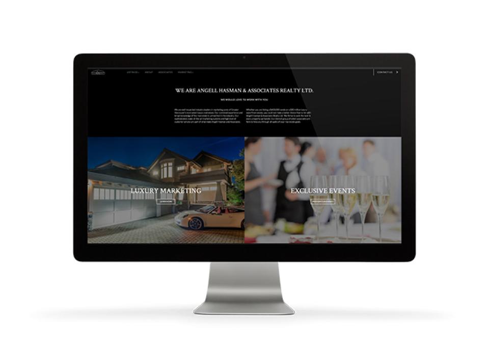 angell hasman website design display