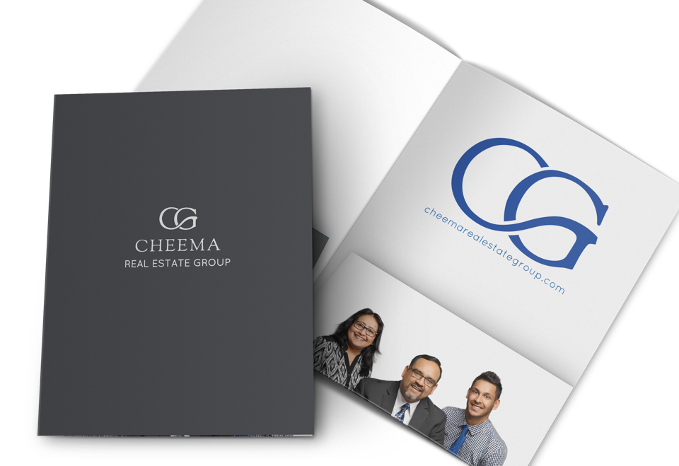 Cheema Real Estate Group marketing and website design display