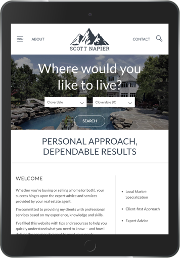 Scott Napier Real estate marketing website design display