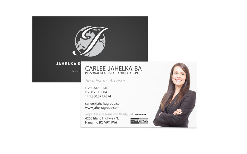 Jahelka Real Estate Group marketing business cards