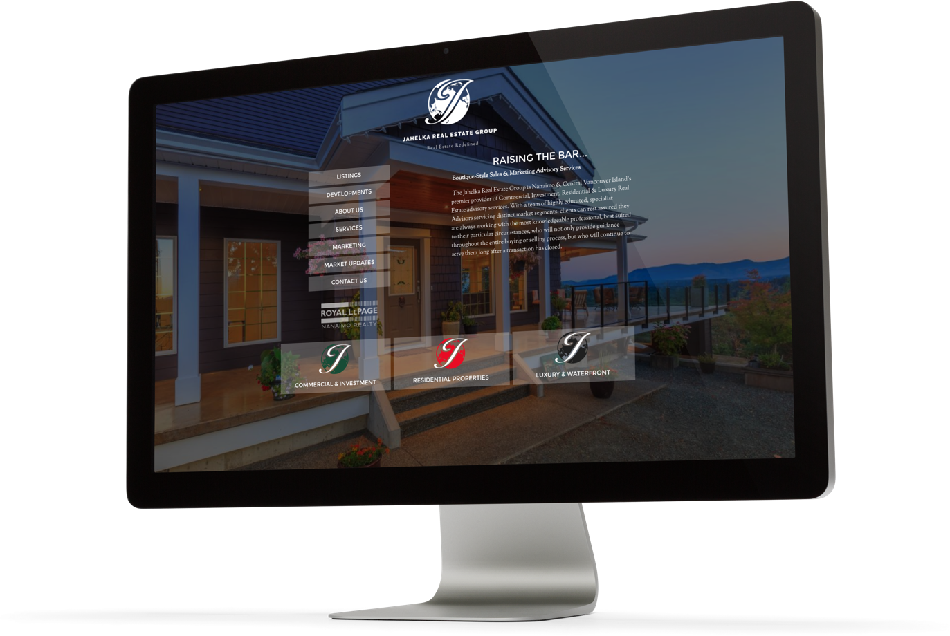 Jahelka Real Estate Group website design