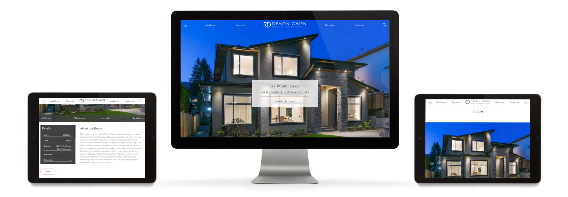 Featured Listings, Devon's Own Real Estate Listings as well as full MLS® Listing Results Across Vancouver