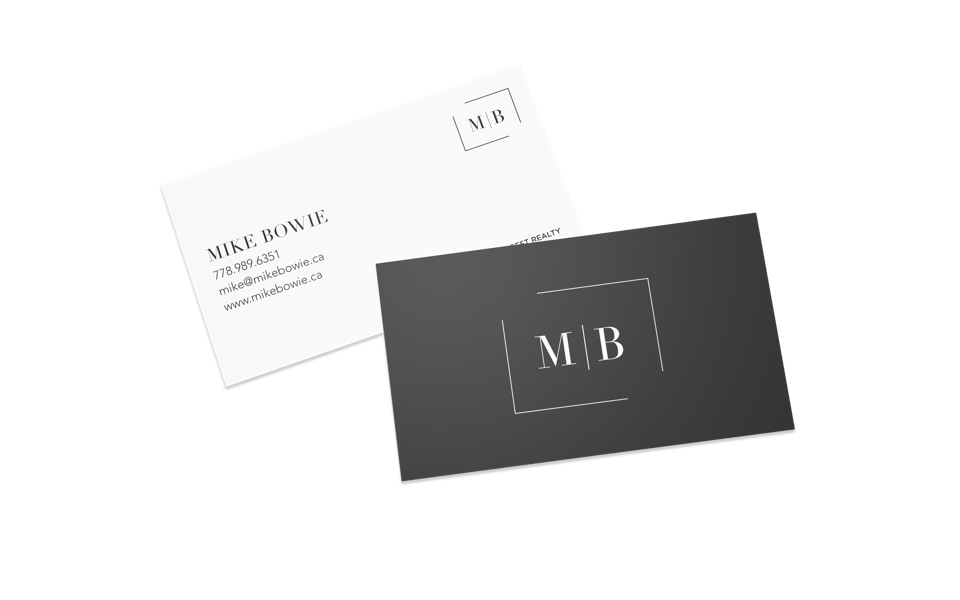 mike bowie vancouver realtor business cards