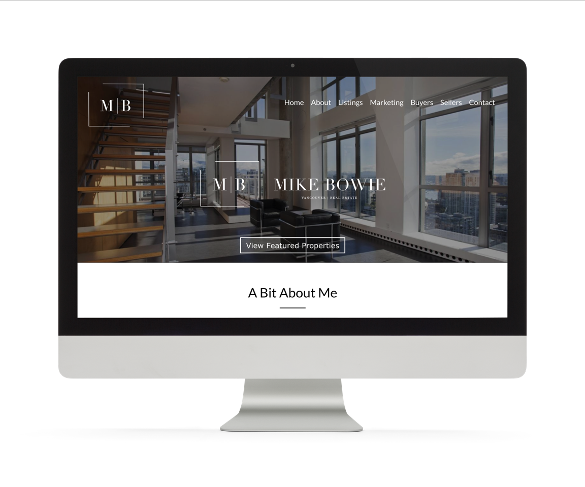 Metro Vancouver real estate agent mike bowie custom web design