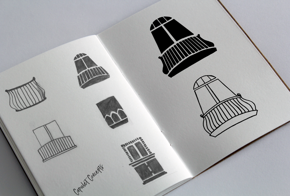 Sketchbook illustration for real estate branding logo design