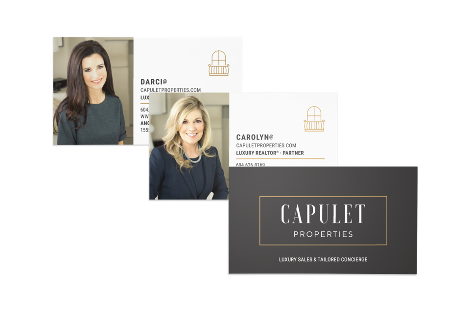 Capulet Properties Luxury Realtors business cards