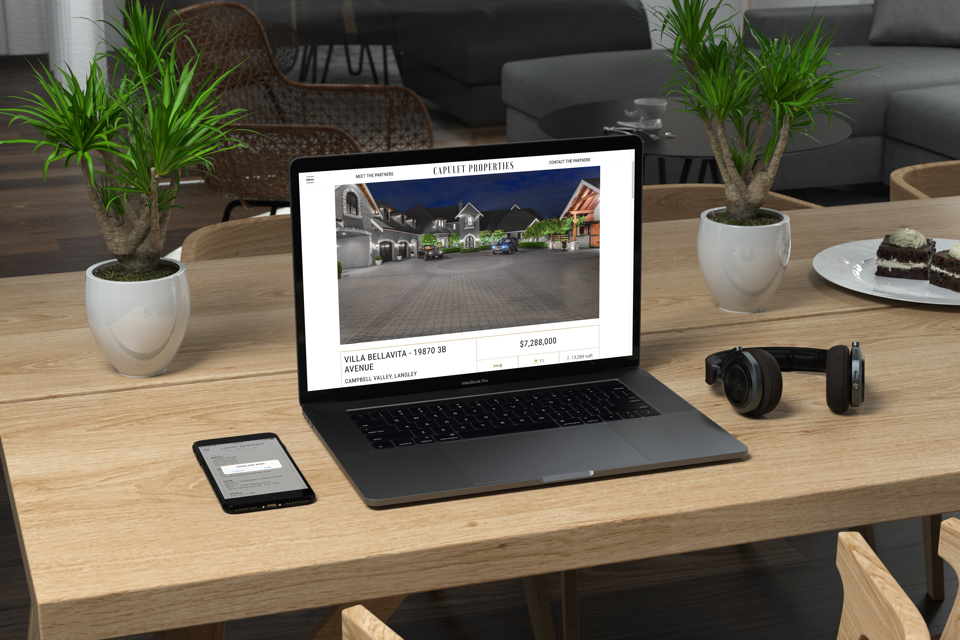 vancouver based real estate website design for capulet properties
