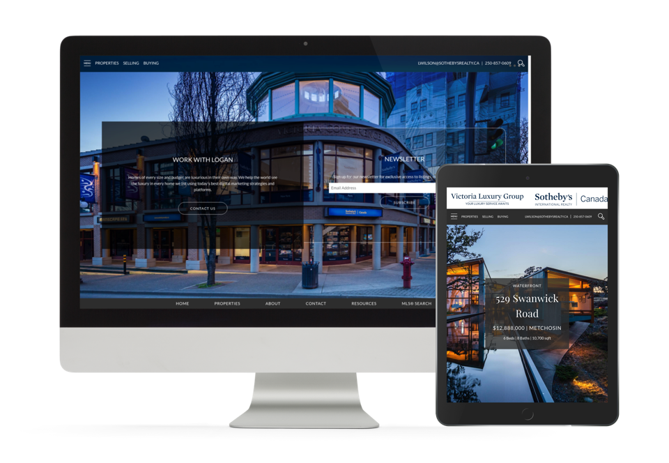 Victoria Luxury Group Victoria BC website design for real estate agents
