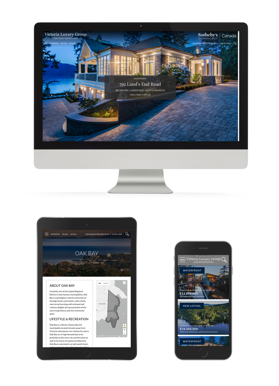 Vancouver Island Real Estate Website design for responsive devices