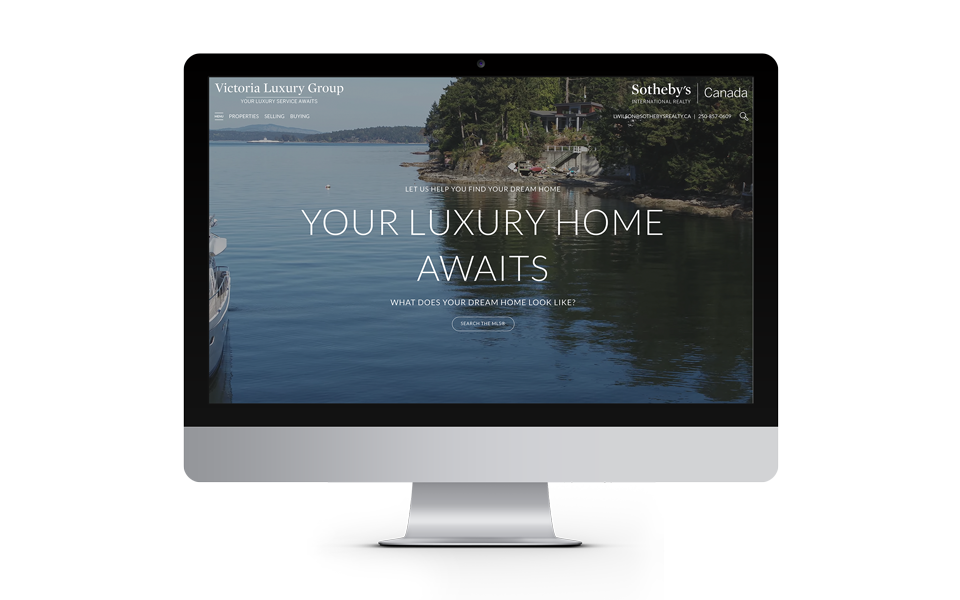 Victoria Real Estate Group Website Homepage Design