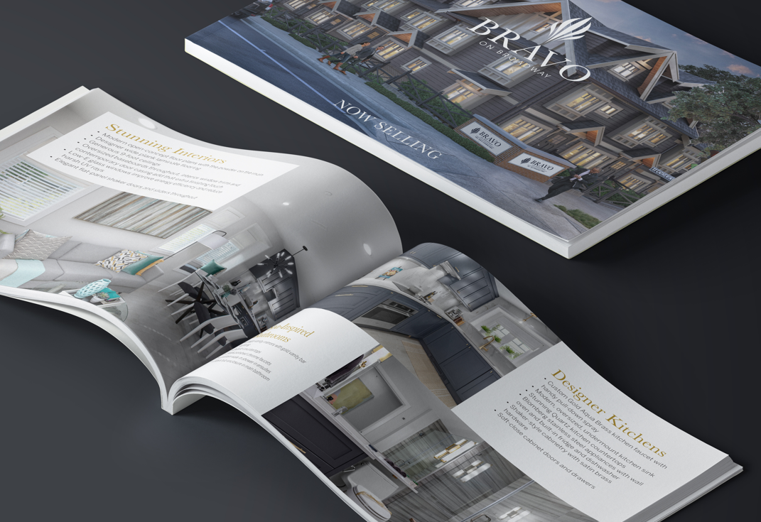 Project Marketing Townhome Development Brochure for Bravo Townhomes Vancouver, BC