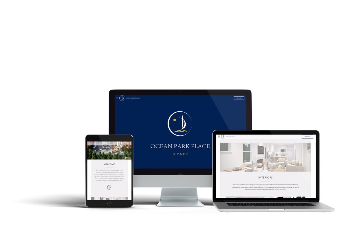 Custom Web Design for Ocean Park Place - Vancouver Island Real Estate Project Marketing