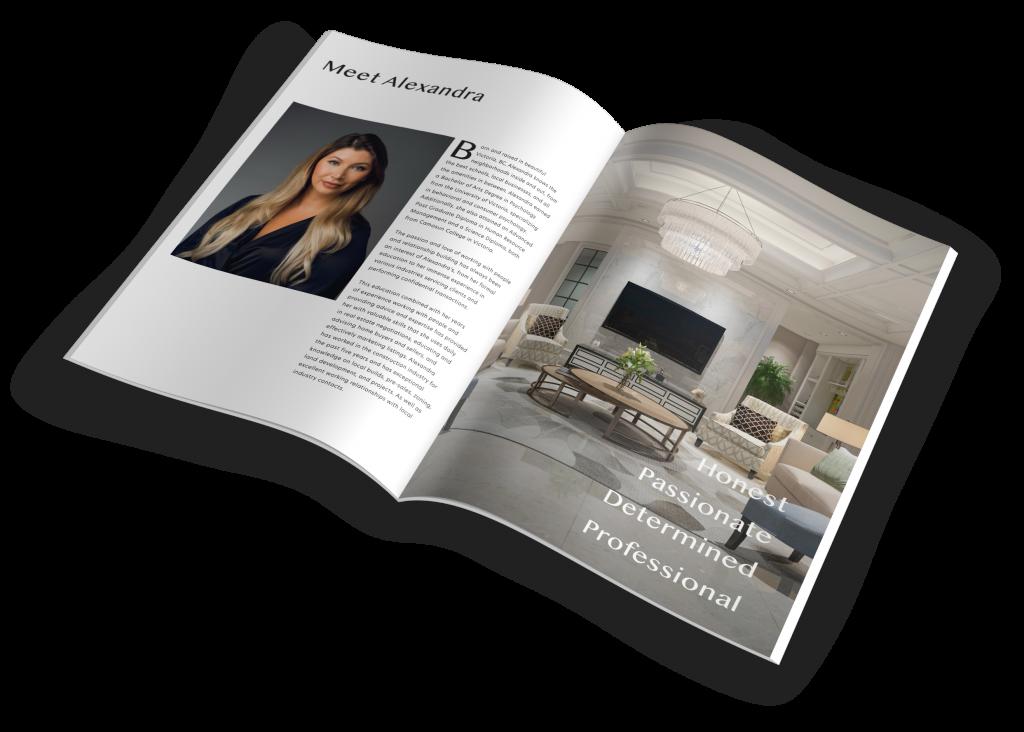 Victoria Real Estate Agent custom Designed Introduction