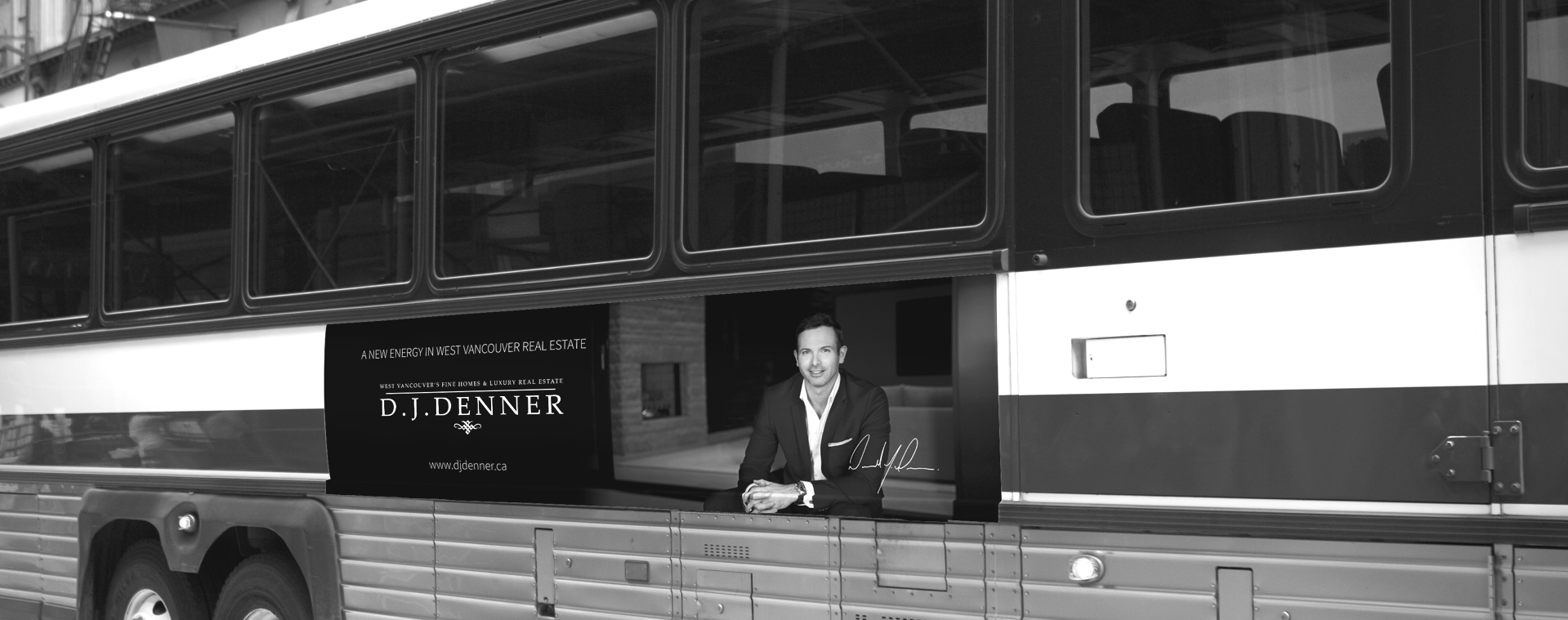 DJ Denner Vancouver Real Estate Agent Bus Ad