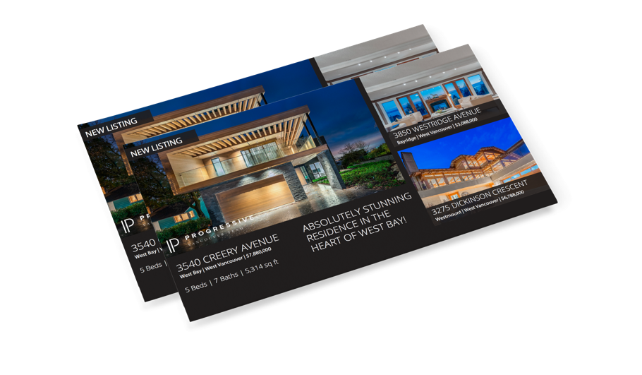 Vancouver, BC Custom-designed mailers and handouts for real estate agents