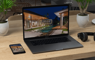 Laptop and Cellphone Mockup of Realtor website James Hau
