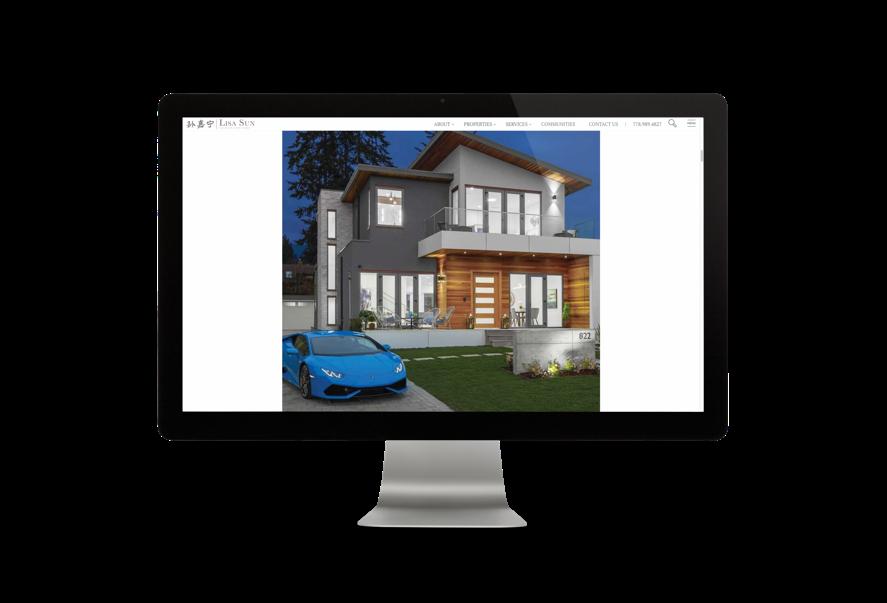 Desktop view of Lisa Sun real estate website listing page