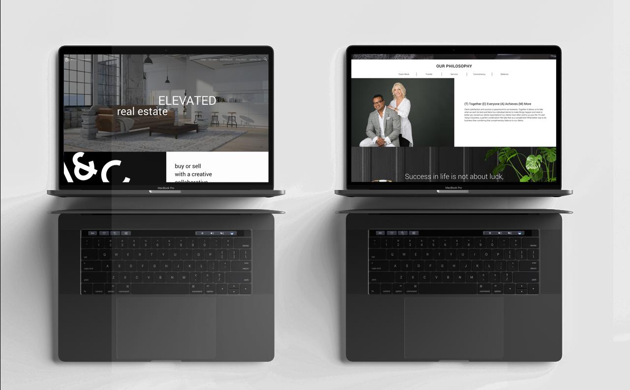 Bilash and Charron Laptop realtor website design visuals