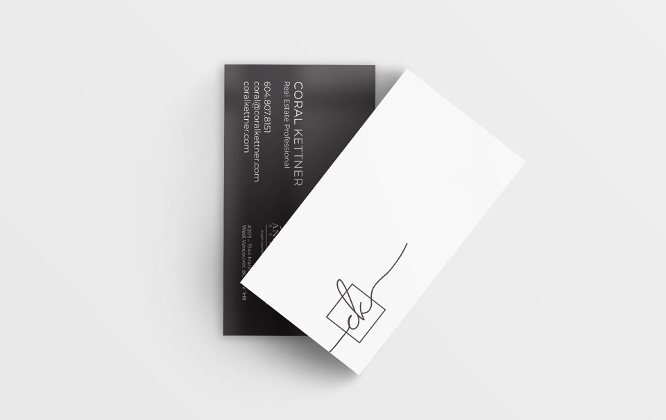 Coral Kettner BC Realtor® Business Cards