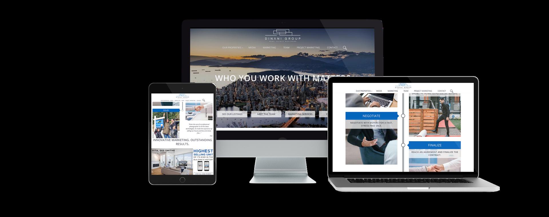 Vancouver Real Estate Team Dinani Group custom website display