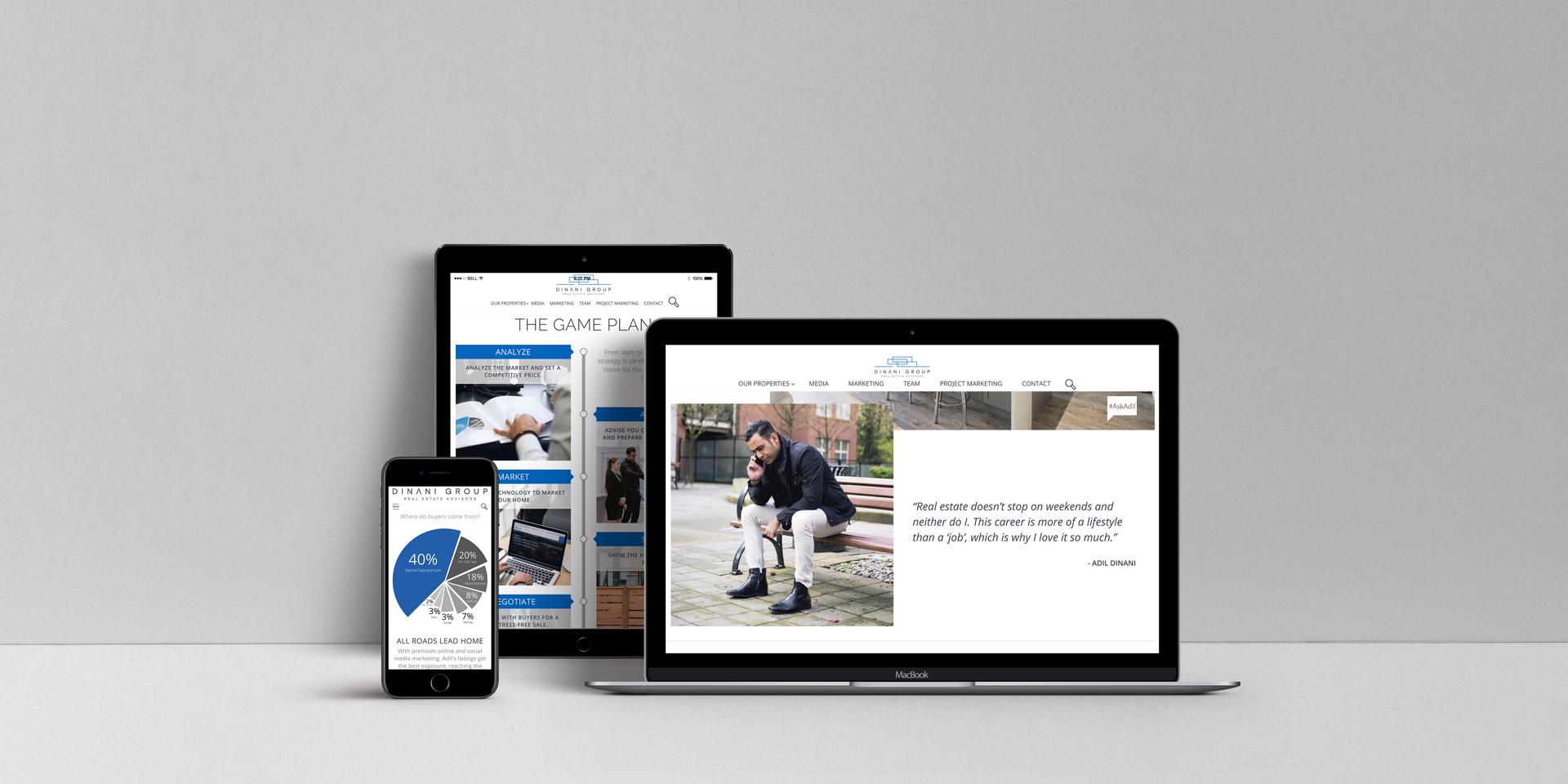 Adil Dinani Group Royal lePage Real Estate Team Custom Website