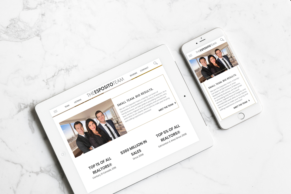 This Edmonton Real Estate team's website shines on all mobile devices