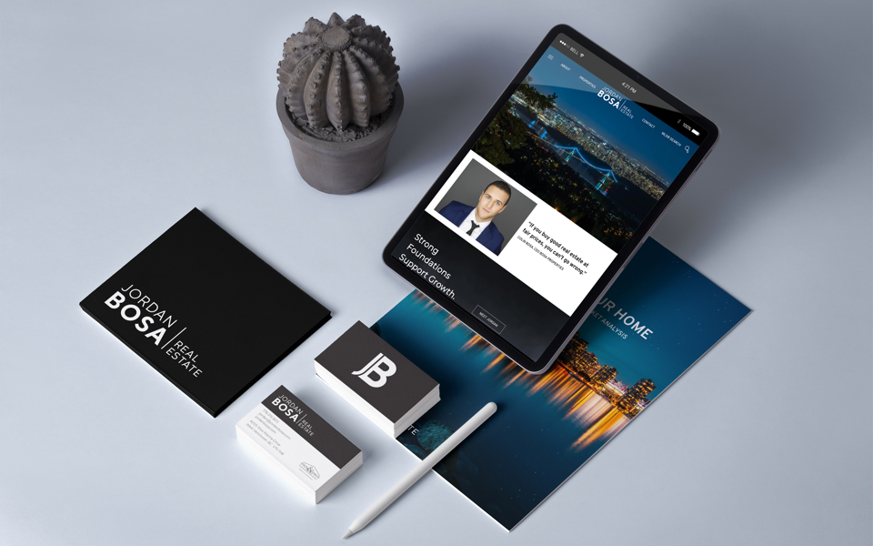 Jordan Bosa Branding - Realtor® Business cards and folders