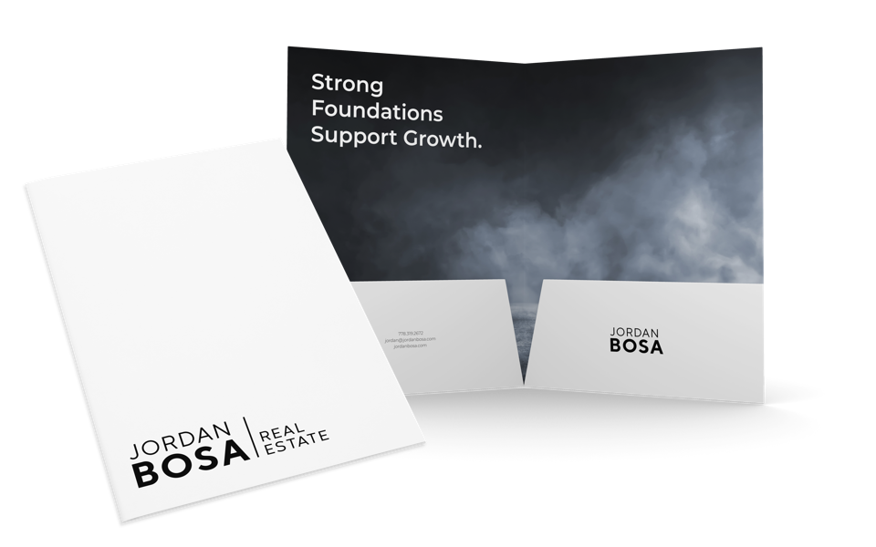 Jordan Bosa Real Estate Folder Design