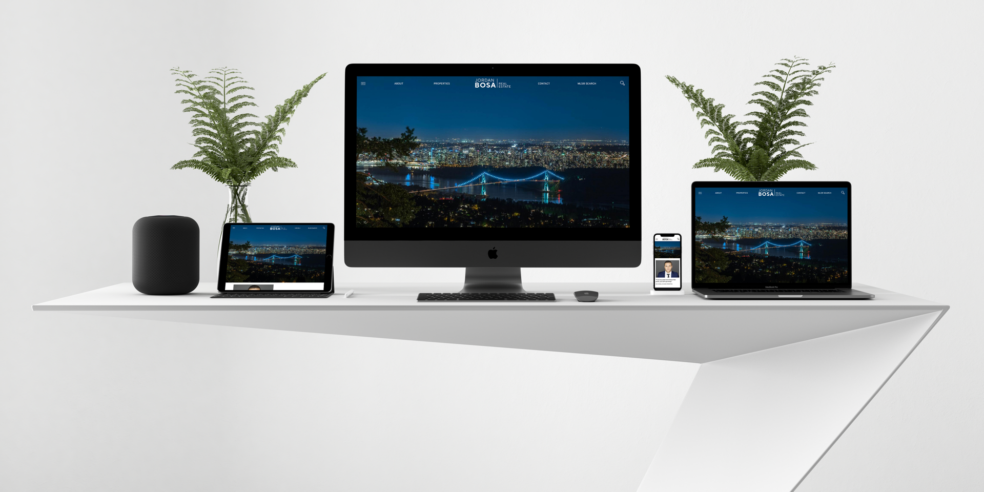 Jordan Bosa Vancouver BC Real Estate Website responsive on all mobile devices