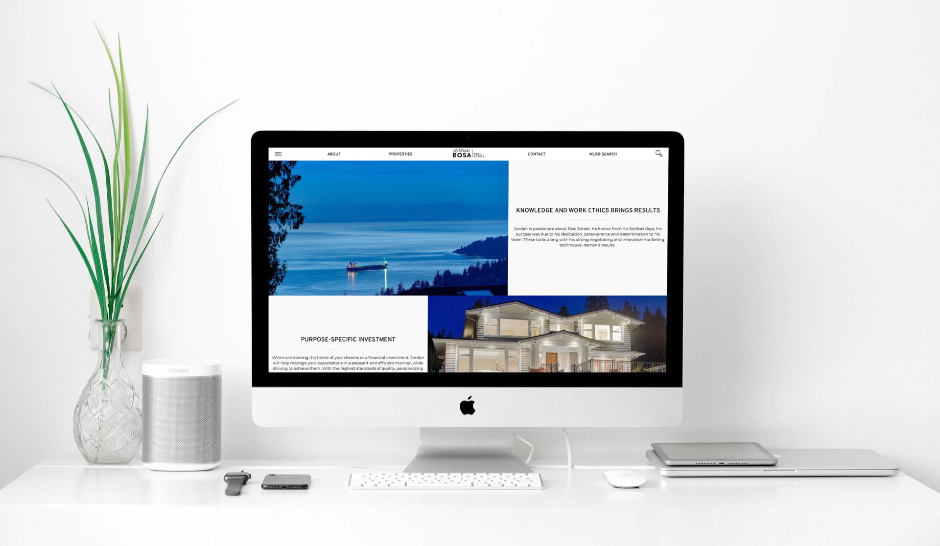 Jordan Bosa Real Estate Custom website design
