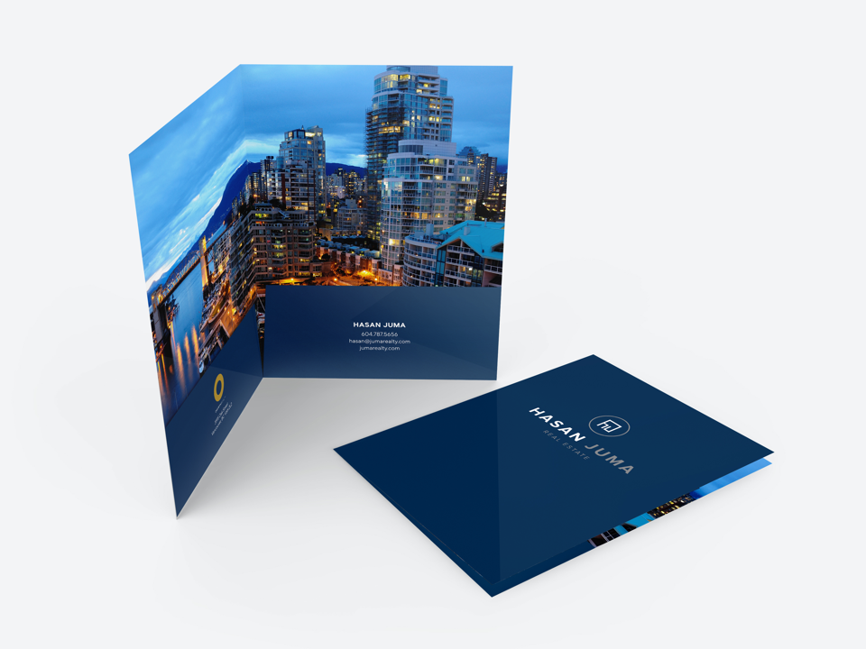 Greater Vancover Realtor® Hasan Juma Custom Designed Stationery - Real Estate Folder