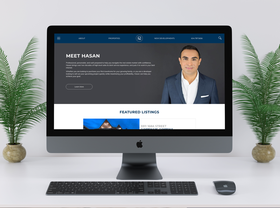 Hasam Juma Real Estate Agent Website Homepage